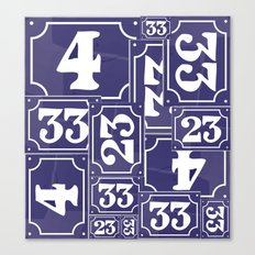 Enamel Number Plates Canvas Print