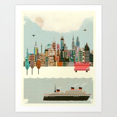 visit london city Art Print