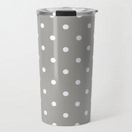 Polka Dots Pattern: Grey Travel Mug