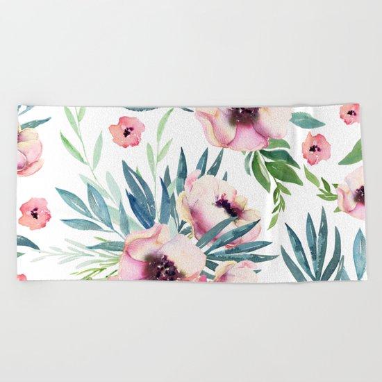 Flowers in Bloom Beach Towel