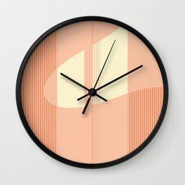 Pattern creme and apricot Wall Clock