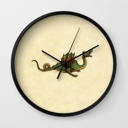 Medieval Green Dragon Wall Clock
