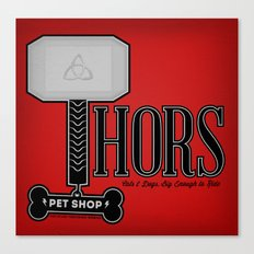 Thors Petshop Canvas Print