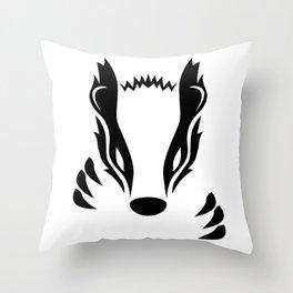 Badger Throw Pillow