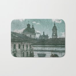 Colonial Architecture at Historic Center of Bogota Colombia Bath Mat