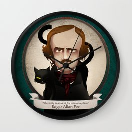 Edgar Allan Poe said... Wall Clock