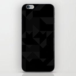Random Triangles Greyscale iPhone Skin