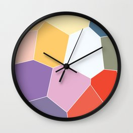 Colored Tiles Blocks Pattern Wall Clock