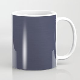 Navy Blue Streaky Hand Painted Watercolor Coffee Mug