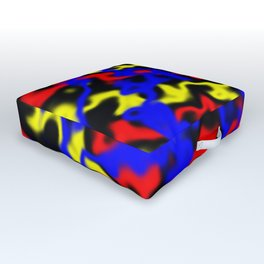 Red, Yellow, Blue Outdoor Floor Cushion