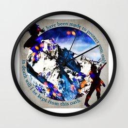 Nina and Matthias - Protect Wall Clock
