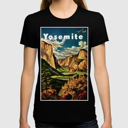 Yosemite National Park - Vintage Travel T-shirt