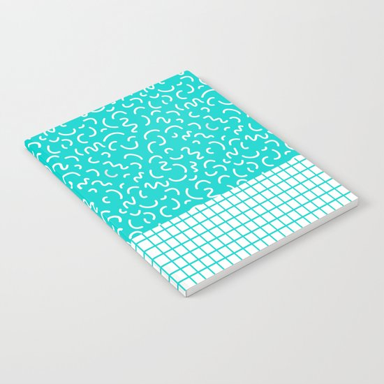 Hockney - Bright blue, memphis, 80s, 90s, swimming pool, summer turquoise design cell phone, phone  Notebook