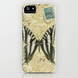 Zebra Butterfly iPhone Case