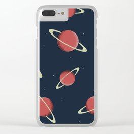 Planet Sat Clear iPhone Case