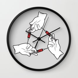 Rose Syringes Wall Clock