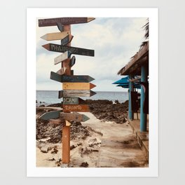 """Tiki Signs"" Photography Art Print"