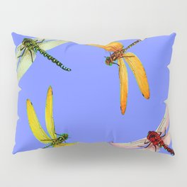 COLORFUL DRAGONFLIES IN BLUE SKY  DESIGN Pillow Sham