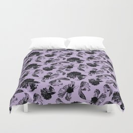 Beta Fish Lavender Duvet Cover