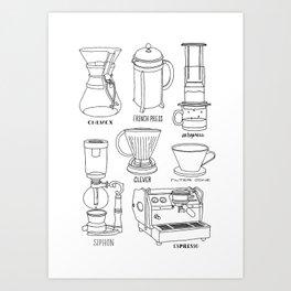 Coffee Brewing Art Print