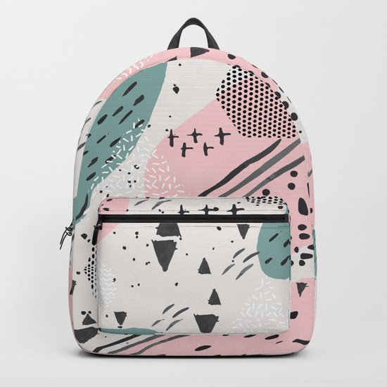 Geometric shapes & strokes Backpack
