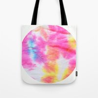 tie dye Tote Bags featuring Tie Dye  by Lara Gurney