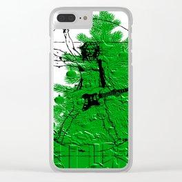 da vinci's Tree Clear iPhone Case