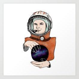 Yuri Gagarin. Space day. Art Print