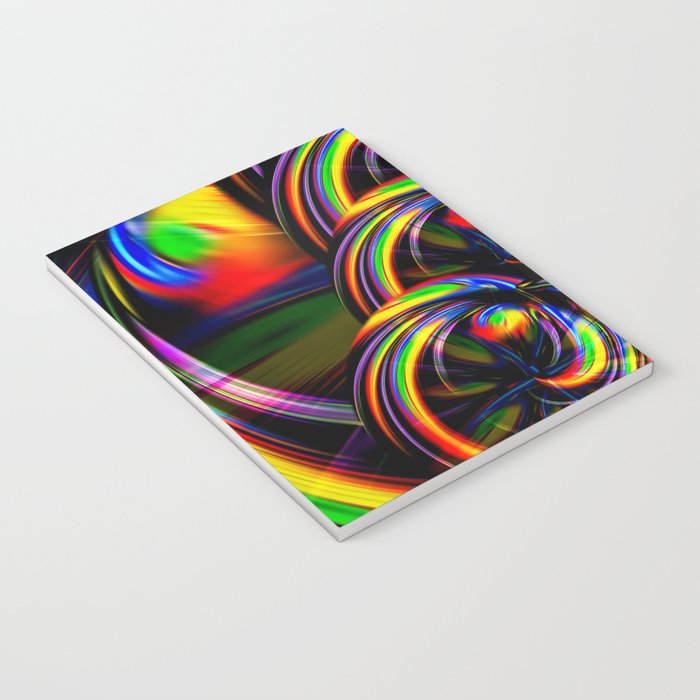 Creations in the color spectrum of the rainbow 3 Notebook