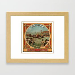 The Derby Vintage Horse Racing David Dunlop Framed Art Print