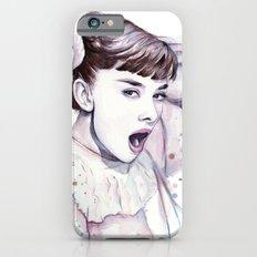 Audrey Hepburn Watercolor Actress Breakfast at Tiffanys Slim Case iPhone 6