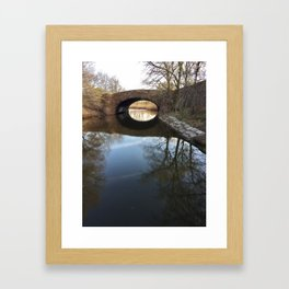 Fens Reflection Framed Art Print