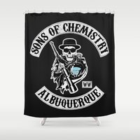 chemistry Shower Curtains featuring Sons of Chemistry by I.Nova