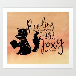 Reading is Foxy Art Print