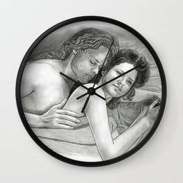 Outlander, together Wall Clock
