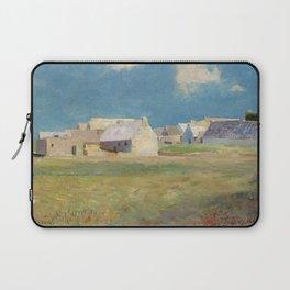 Odilon Redon - Breton Village Laptop Sleeve