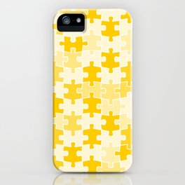 Yellow Jigsaw Puzzle iPhone Case