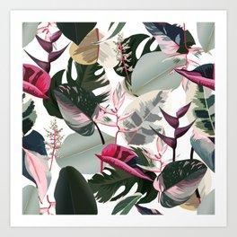 Hawaiian Jungle IV Tropical Flowers and Foliage Art Print