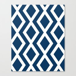 Navy Diamond Canvas Print