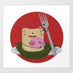 Tamal con cerdo Art Print