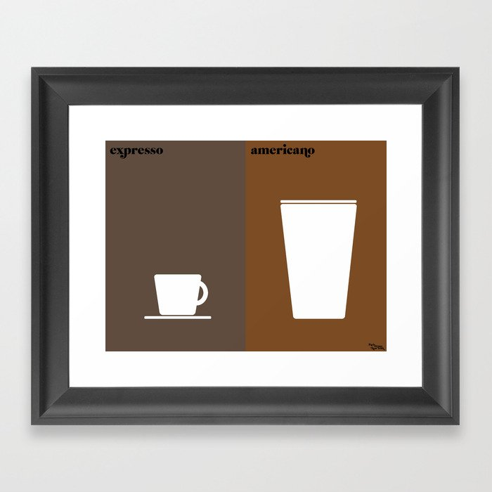 le café Framed Art Print