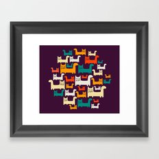 City Of Kitties Pattern Framed Art Print