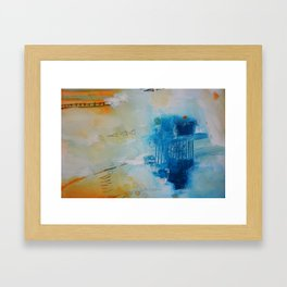 Blue abstract print Framed Art Print