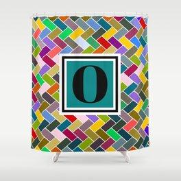 O Monogram Shower Curtain