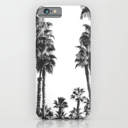 Palm Tree Days {2 of 2} Tropical Black and White Cali Art Print iPhone Case