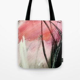 Train of thought: a vibrant abstract mixed media piece Tote Bag