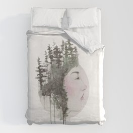 """""""Sometimes, even the snow is sad."""" Duvet Cover"""