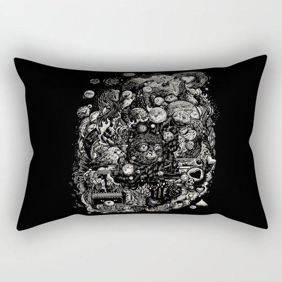 Spark-Eyed Oblivion Cascade Blues Rectangular Pillow