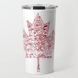Maple Leaf - red Travel Mug