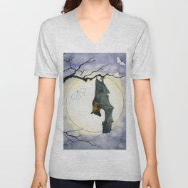 Moonlight Bat Unisex V-Neck